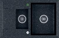 Кухонная мойка KERNAU KGS W 6078 1,5B1D BLACK METALLIC