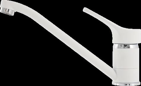 Кухонный смеситель гранитный Kernau KWT 03A PURE WHITE