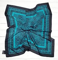 Шелковый платок Фиона, 90*90 см, темно-бирюзовый