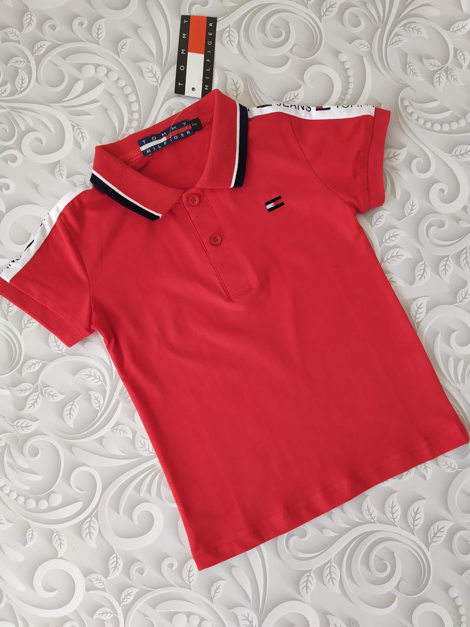 Красная футболка поло детская Томми