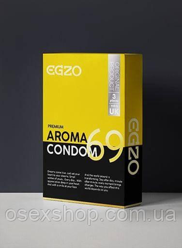 Ароматизовані презервативи EGZO Aroma (3 шт упаковка)