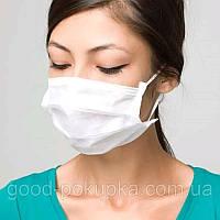 Маска медицинская для лица Спецмедпошив одноразовая трехслойная защитная белая, упаковка 30 шт