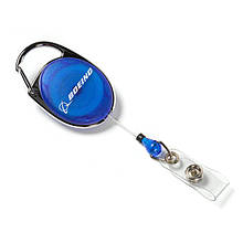 Держатель для бейджа Boeing™ Carabiner Retractable Badge Holder