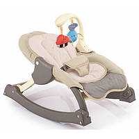 Кресло-качалка детский шезлонг с мягкими игрушками Weina MusiCozzi Joy (шоколадный) от рождения и до 5 лет
