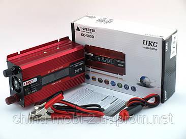 Преобразователь напряжения, инвертор UKC AC/DC KC-500D+LCD 12V-220V 300W