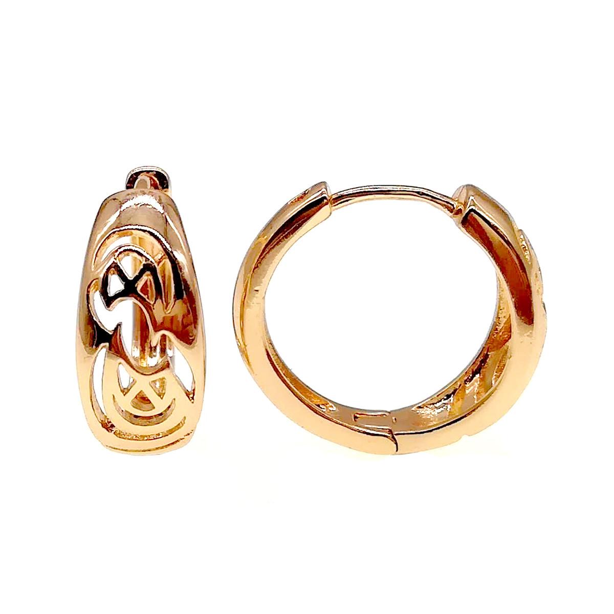 Сережки Xuping з медичного золота, позолота 18К, 23886 (1)