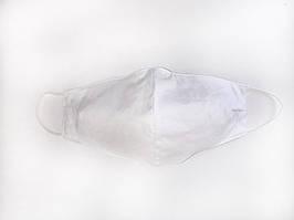 Белая защитная дышащая маска хлопок под форму лица на резинке разные цвета