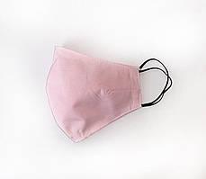 Стильная однотонная защитная розовая маска для девушек и женщин  с резинкой