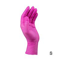Перчатки нитриловые неопудренные темно-розовые STYLE Grenadine 100 шт