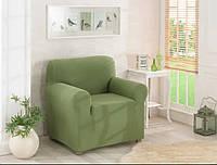 Чехол для кресла Karna без оборки Зеленого цвета
