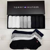 Мужские носки в фирменной подарочной упаковке Tommy Hilfiger  - 9 шт коробке