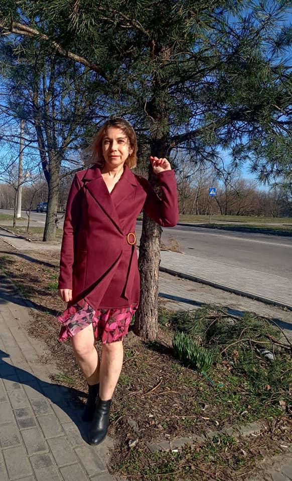 Платье-пиджак из эко-замши