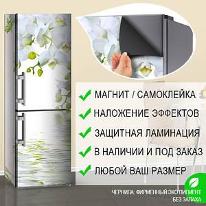 Магнитная наклейка с орхидеями на холодильник, Лицевая