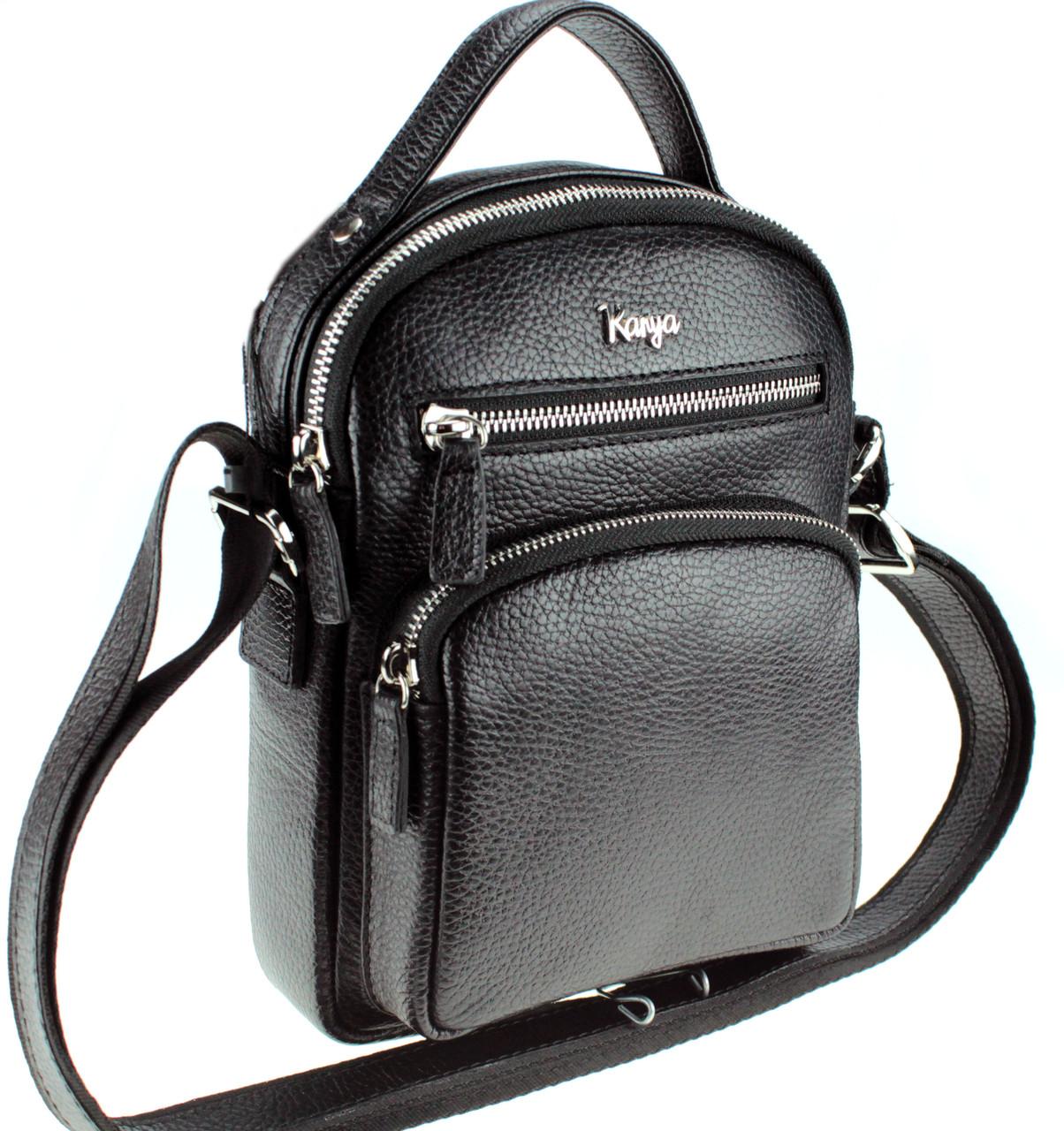 Мужская сумка Karya 0251-45 кожаная черная