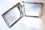 Зеркальце карманное раскладное квадратное 7х7 см, фото 2