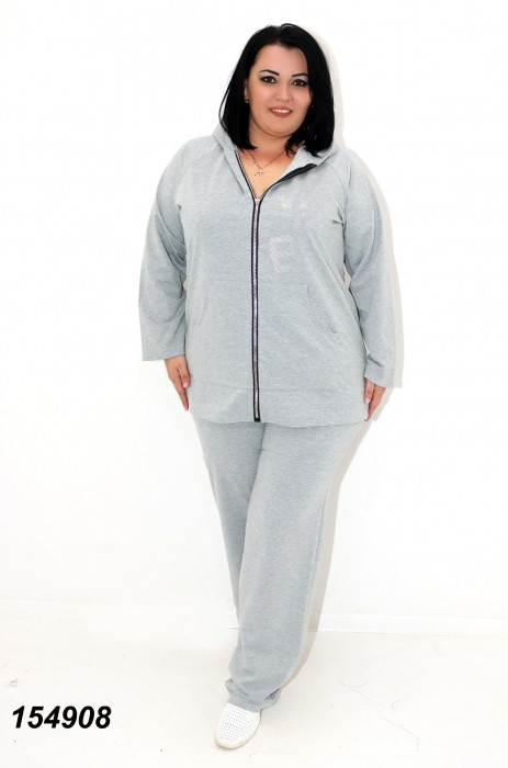 Женский спортивный костюм серый 50,52,54,56