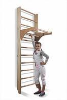 Детский спортивный уголок для дома SportWood Шведская стенка Растишка. Кольца, лестница и др. оборудование.