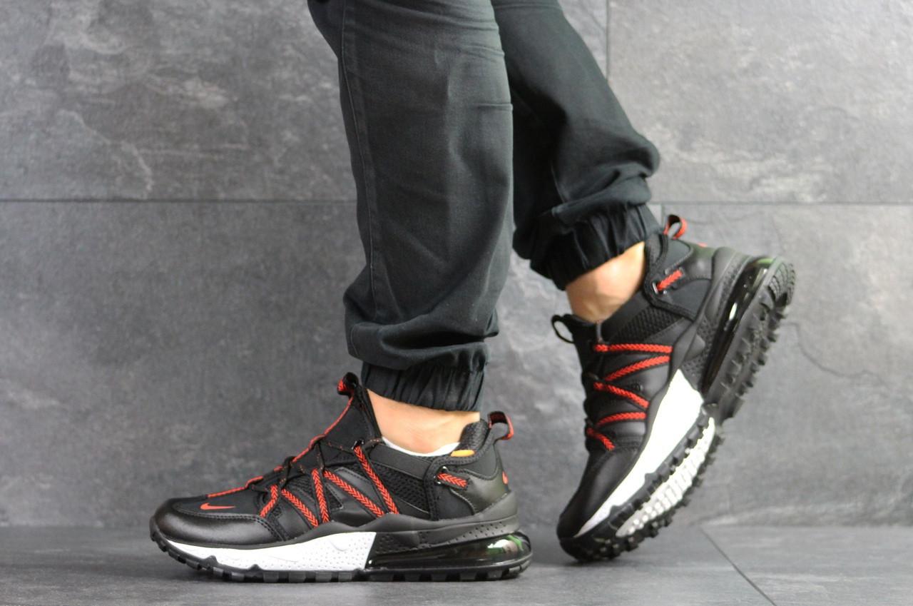 Мужские кроссовки Nike,черные с красным