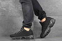 Кроссовки мужские Nike Air Max 95,черные,нубук, фото 1