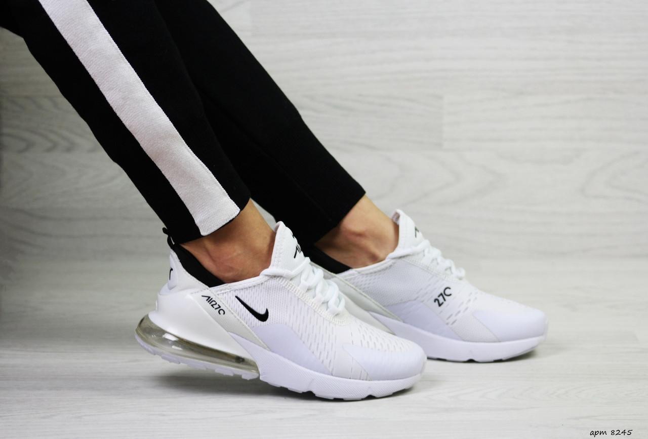 Модные женские кроссовки Nike Air Max 270,белые 39р