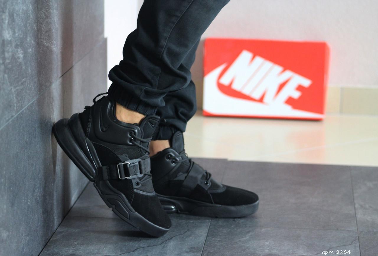 Кроссовки мужские Nike Air Force 270, замшевые,черные