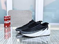 Мужские модные кроссовки Adidas Sharks,черно-серые с белым, фото 1