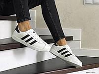 Женские,подростковые кроссовки Adidas Gazelle,белые с черным, фото 1