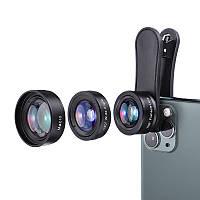 KUULAA 3in1 4K HD Широкоугольный Объектив Макро рыбий глаз Объективes Сотовый телефон камера Объектив Набор для iPhone 11 Pro Макс Huawei P20 Pro