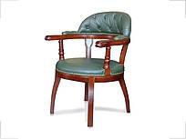 Кресло Бендетти конференц кожа зеленая