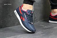 Мужские кроссовки Reebok,плотный текстиль,темно синие с красным 41,44р, фото 1