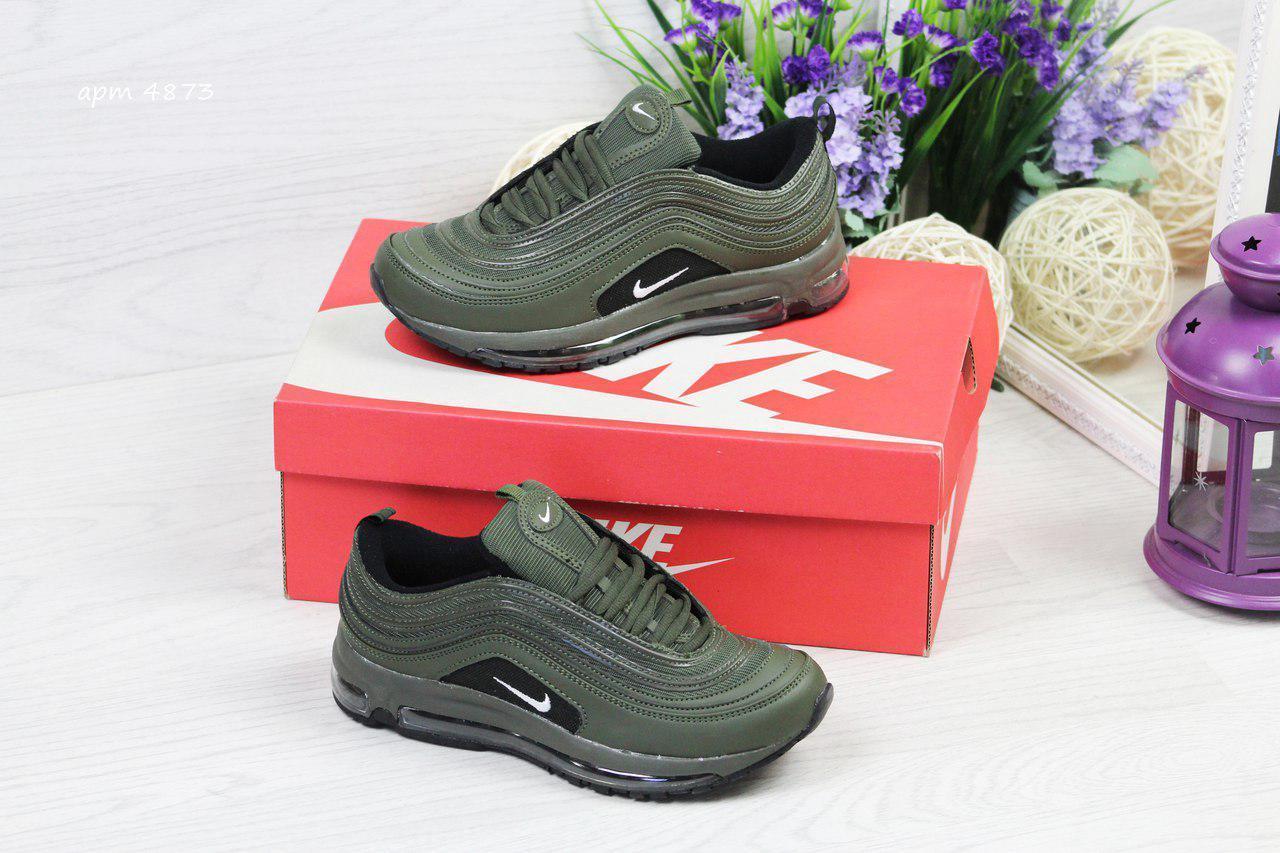 Модные подростковые кроссовки Nike Air Max 87,зеленые