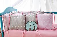 Бортики (защита) в детскую кроватку Облачко