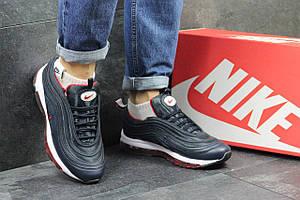 Кроссовки подростковые Nike air max 97, темно синие с красным 36,38р