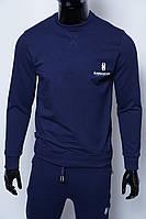 Кофта свитшот трикотажная мужская 630641 синяя 54 размер