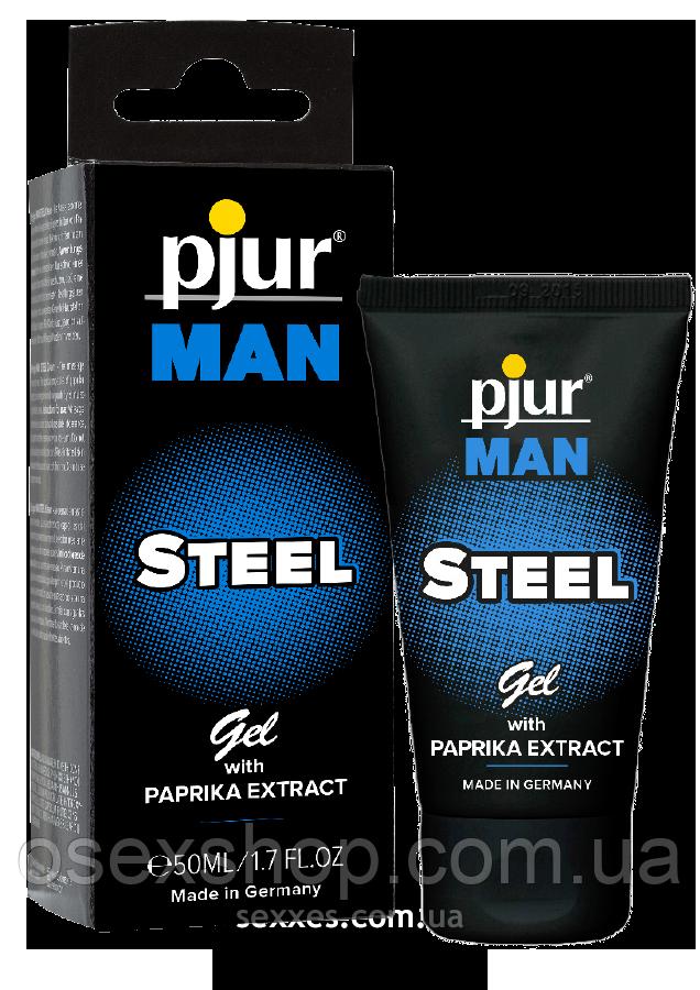 Гель для пеніса стимулюючий pjur MAN Steel Gel 50 ml з екстрактом паприки і ментолом