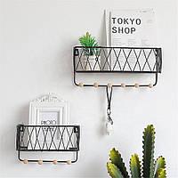 Bakeey Железная стенная полка с деревянными плавающими настенными полками для идеального декора любой комнаты -1TopShop