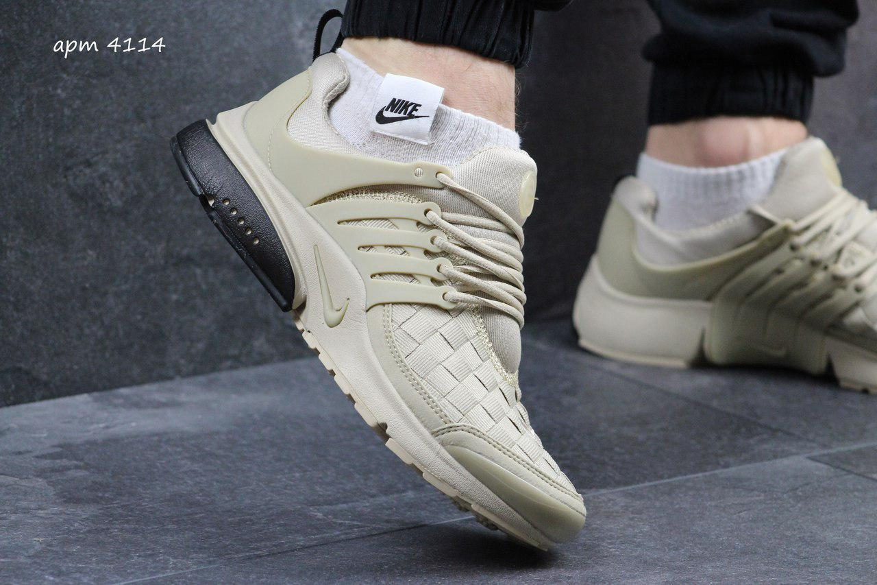 Кроссовки Nike air presto TP QS текстиль,бежевые 43,44р