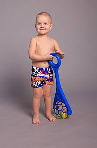Оптом детские купальные шорты для мальчиков (арт. 846)  28-36р. синие 30