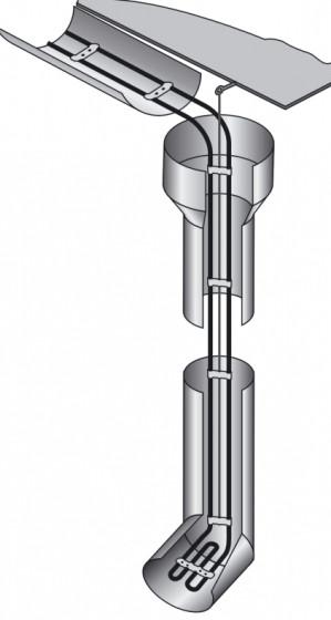 """Антиобледенительная система - нагревательный кабель 19м Hemsted (Германия) для 9 метров водостока и желоба - """"Дешево"""" інтернет - магазин в Львове"""