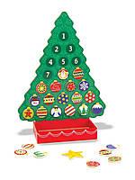 Адвент-календарь детский Melissa & Doug Рождественская елка, 25 магнитов