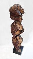 Напольна статуэтка обезьяны суара 3 друг на друге