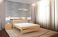 Двуспальная Кровать из дерева сосна 140*200 Волна MECANO цвет Светлый орех 5MKR06