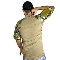 Тактическая футболка с коротким рукавом ESDY A424 Camouflage XXL мужская армейская камуфляжная с карманами, фото 3