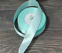 Лента атлас 2,5 см нежно-бирюзового цвета