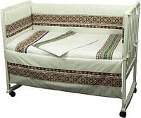 Защитное ограждение в кроватку Словяночка Руно зеленое