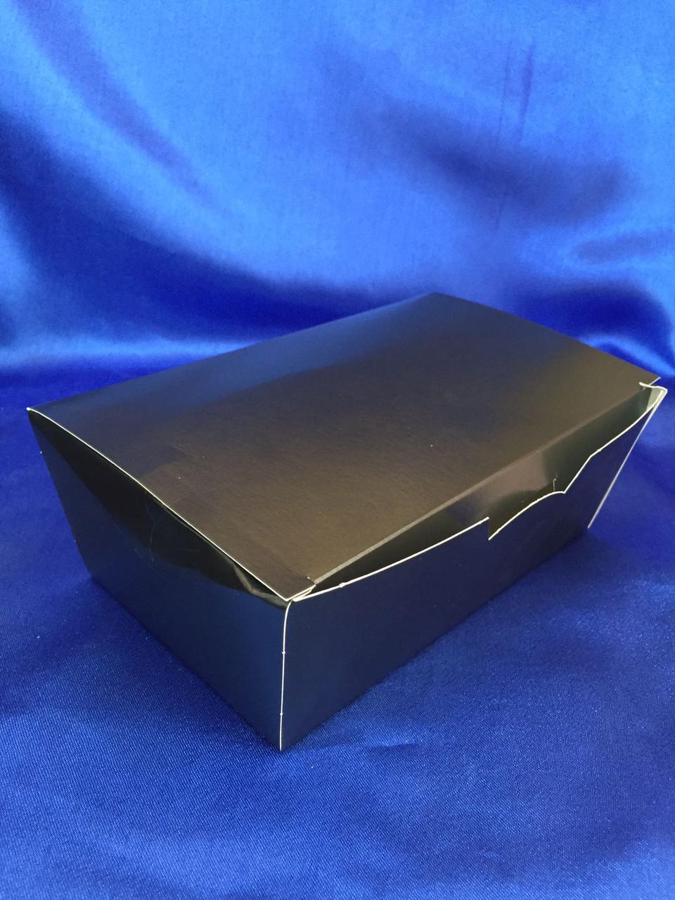 Паперовий Контейнер для нагетсів і суші 133*88*48 Чорний