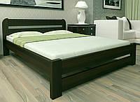 Двуспальная Кровать из дерева сосна 160*200 Престиж MECANO цвет Венге 19MKR031