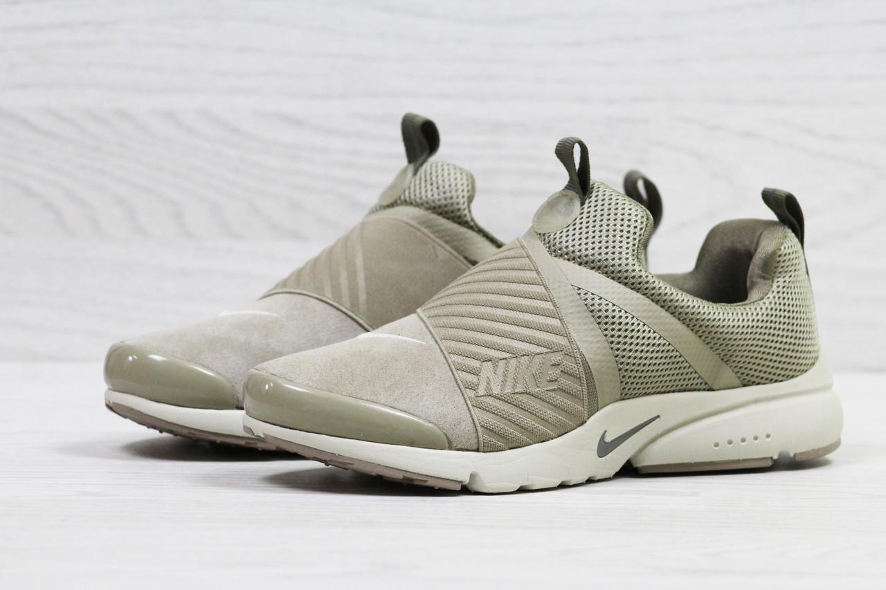 Кроссовки Nike air presto замшевые,бежевые