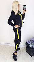 Спортивный Костюм, Ткань: Трикотаж кукуруза,  р-р 42-44, 46-48, цвет ( Синий - Желтые Полоски )