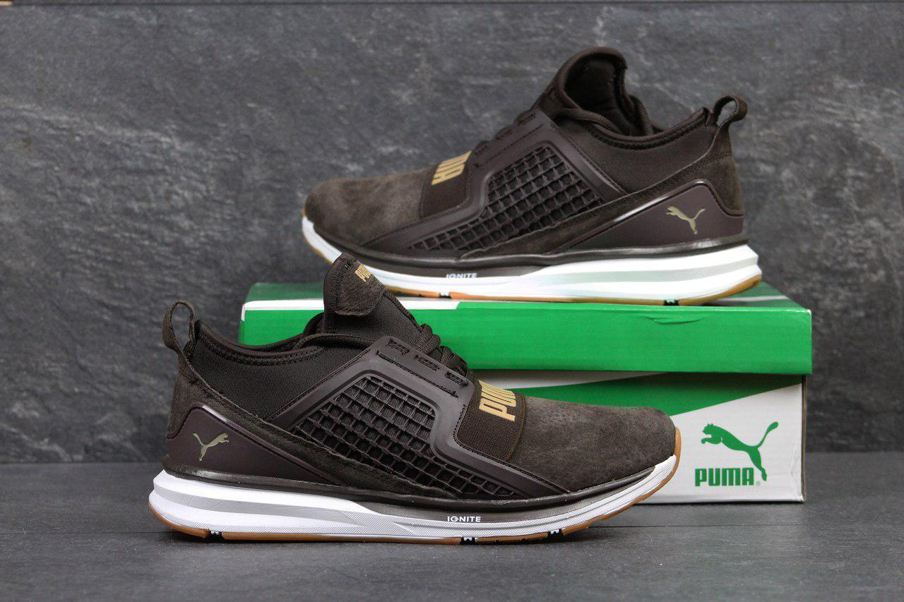 Мужские кроссовки Puma Ignite Limitless,замшевые,коричневые 42,45р